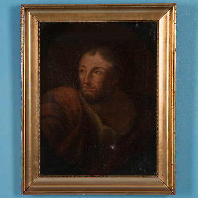 Antique 19th Century Italian School Oil on Canvas Portrait of a Man