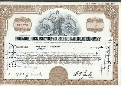 Chicago, Rock Island and Pacific Rail Road Stock Certificate