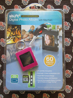 Shift Usb 2.0 Rechargeable Digital Photo Album With Keychain 60 Images Nib