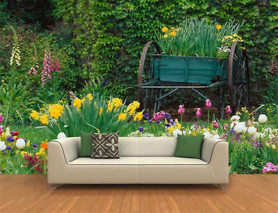 Spring Flower Garden Full Wall Mural Photo Wallpaper Printing 3D Decor Kids Home