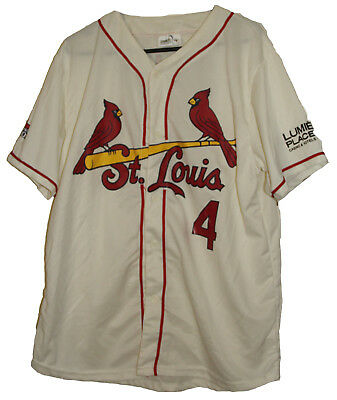 Mlb St Louis Cardinals #4 Yadier Molina Match Up Baseball Jersey Size: X-Large