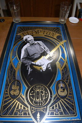 Eric Clapton Msg New York City Poster By Adam Pobiak Signed #/1000 Nyc Sold Out