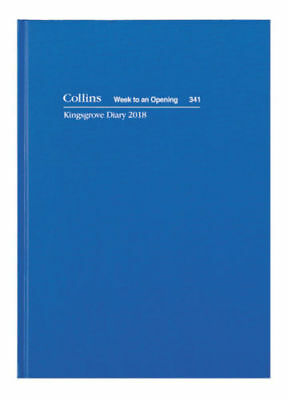 2018 Collins Kingsgrove Diary A4 Week to View Opening 341.P59-18 Hardcover BLUE