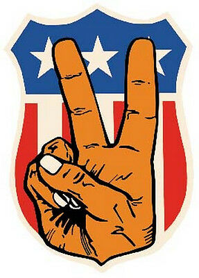 USA Peace Sign  Retro 1960's style   Hippy Travel Decal sticker American