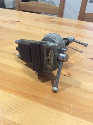 Vintage 60mm Jewellers Vice; Anvil; Works Well; Pivoting; Old Tool