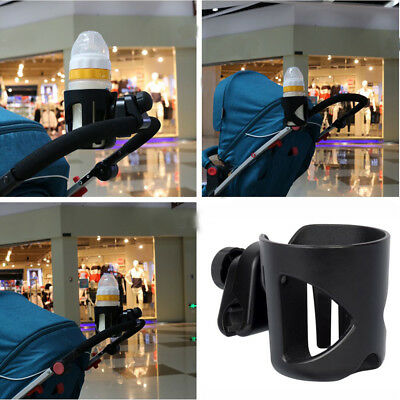 Kids Stroller Pram Cup Holder Universal Feeding Bottle Drink Coffee Cages Black