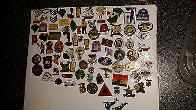 Vintage  lot of 78 Metal Pins  entire Collection all  MASONRY  Freemason related