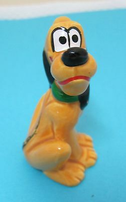Vintage Disney Pluto Figurine Japan Original Disneyland Stcker Tag Dr3