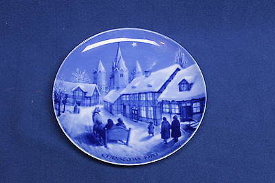 Royale Blue Winter China Collector Plate Christmas 1970 Midnight Mass