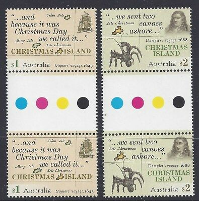 Christmas Island 2017 Early Voyages Gutter Pair of Stamps