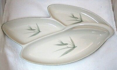 """Bamboo Winfield China Pottery California 3-Part Relish 16 1/8"""" Excellent Shape!"""