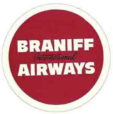 Braniff Airways   Vintage-Looking  Airline Sticker/Decal/Luggage Label