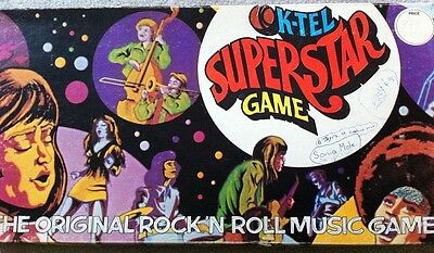 Vintage 1973 Board Game - K-Tel SuperStar Game