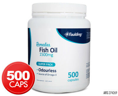 Faulding Remedies Fish Oil 1500mg 500 Caps