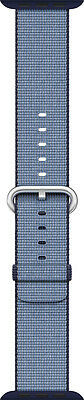 Open-Box Excellent: Apple - Woven Nylon for Apple Watch 42mm - Navy/Tahoe Blue