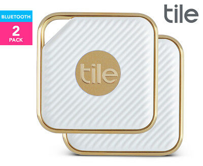 Tile Pro Series Style Bluetooth Tracker 2-Pack - White/Champagne