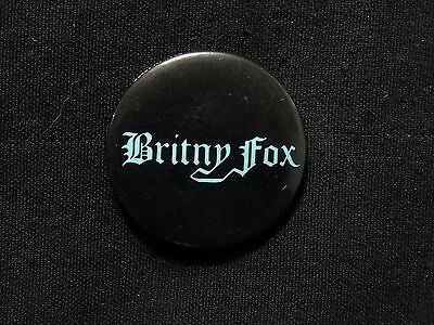 Britny Fox Official1988 Vintage Button Badge Pin   Us Glam Rock