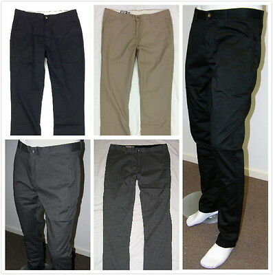 New Volcom Mens Casual Modern Chino Pants #3 -Black, Khaki, Dark Grey
