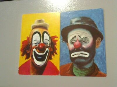 2 Single Swap/Playing Cards - Pair Clown Face#