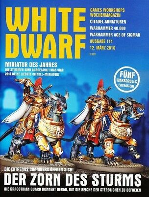 White Dwarf 111 March 2016 (German) by the 12 March 2016 Games Workshop WDS