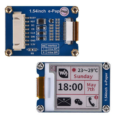 """1.54"""" e-Paper Panel 200x200 LCD Display Module For Raspberry Pi Arduino Nucleo"""