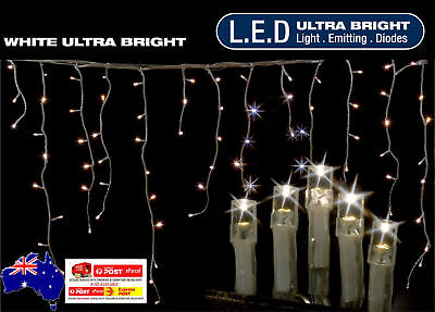 960 Led 23.9M Cool White Icicle Christmas Lights With 8 Functions &memory