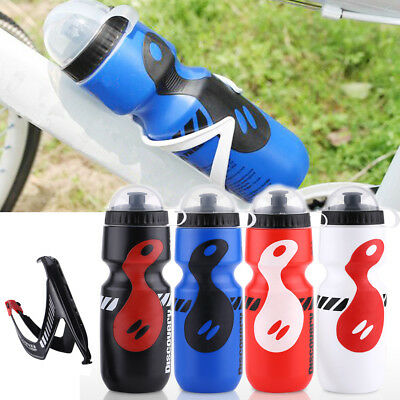 Portable 650ml MTB Bike Bicycle Cycling Water Bottle With Holder Cage Rack LY
