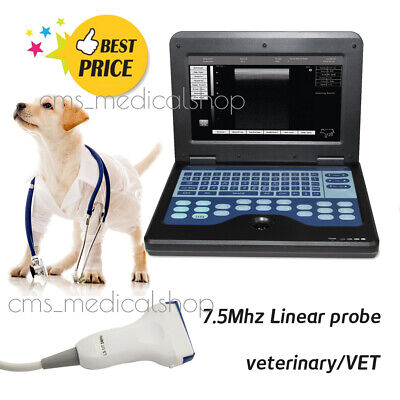 Veterinary TOP Laptop Ultrasound Scanner with 7.5mhz Rectal probe,Pet care