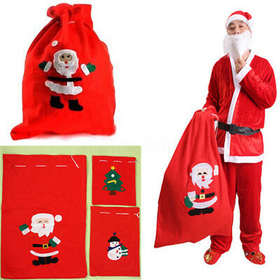 Christmas Red Santa Claus Gift Sack Present Bag Christmas Costume Accessory Gift