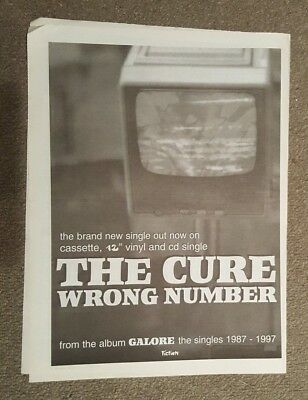The Cure Wrong number 1997 press advert Full page 30 x 42 cm mini poster