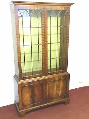 "Outstanding Mahogany ""bevan Funnel"" Glazed Display Cabinet/bookcase"