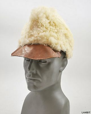 Original winter wool hat cap from Swedish army WWII SL. USED size 57-58 (5)