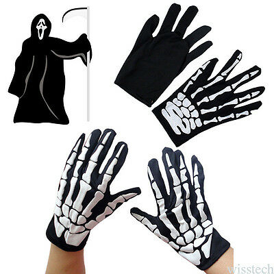 Unisex Halloween Skeleton Ghost Claw Gloves Cosplay Party Decor Gloves