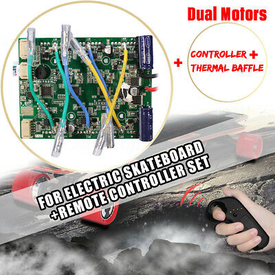 Dual Motors Electric Longbaord Skateboard Controller w/ Remote ESC Replacement