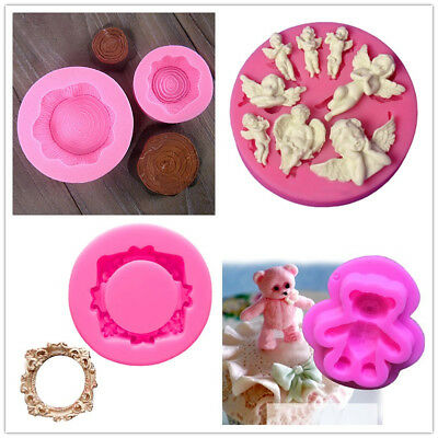 DIY 3D Silicone Fondant Mold Sugarcraft Cake Biscuit Mould Home Decoration Tool