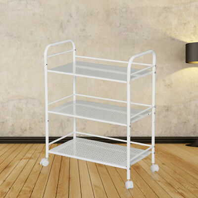 3 Shelf Large Mini Beauty Salon Trolley Cart Storage Dentist Wax Treatment UK