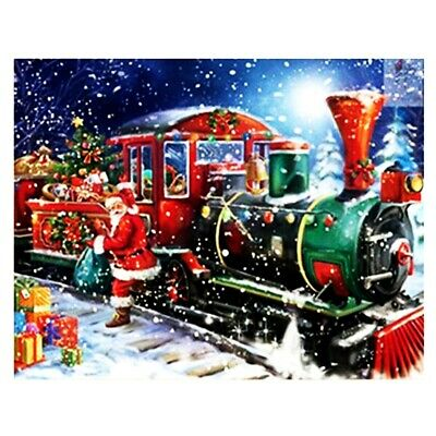 Cross Stitch with DIY 5D Diamond Embroidery Painting Christmas for Home Y7K6