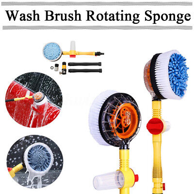 High Pressure Car Foam Brush Rotating Automatic Sponge Hose Washing +Cleaner Cup