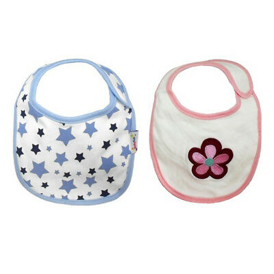 *DISCONTINUED* Dotty Fish Soft Cotton Bibs - Flower / Star Designs