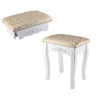 Dressing Table Drawer Stool Adjustable Mirror Bedroom Makeup Seat Baroque Gold
