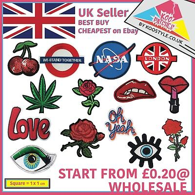0.20p Iron Sew On Wholesale Embroidered Patch Applique Embroidery Motif transfer