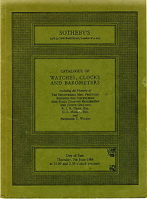 Sotheby's auction catalogue Watches, Clocks & Barometers + prices realised