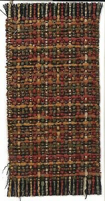 Dollhouse Miniature Woven Accent Rug in Browns, Autumn Fall Colors ~ HWRSZ13