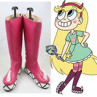 Star vs.the Forces of Evil Princess Star Butterfly Magic Cosplay Shoes Boots New