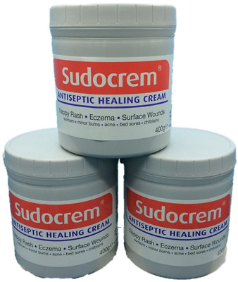 3PC Sudocrem Antiseptic Healing Cream For Nappy Rash, Eczema, Burns Wounds 400g