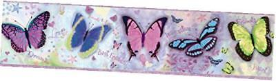 bbc94062b kingston butterflies toss wallpaper border, purple