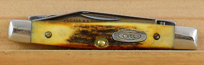 Case Xx #5233 Tested Centenial Small 2 Blade Serpentine Stockman Knife Stag 1989