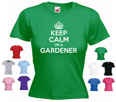 073d05ca70 V-NECK LADIES KEEP Calm And Garden On Gardening Flower Plants Funny ...