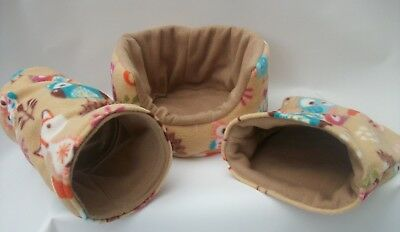 Cozy Pets   Guinea Pig Bed,house,pouch, Tunnel Ferret,rat,chinchilla,set