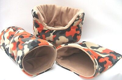"Cozy Pets   Guinea Pig Bed,house,pouch, Tunnel Ferret,rat,set  ""free Uk Postage"""